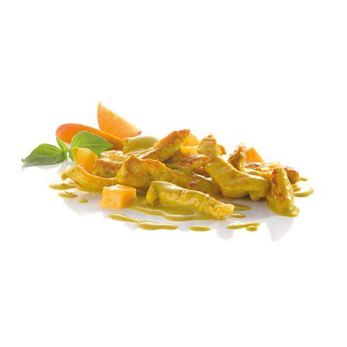 Putencurry mit Mango frisch gekocht für die Profiküche
