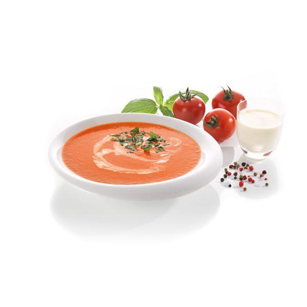 Tomaten-Creme-Suppe aus frischen Tomaten zubereitet