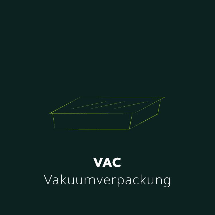 VAC-Vakuumverpackung MENÜPLAN Verpackung Skizze