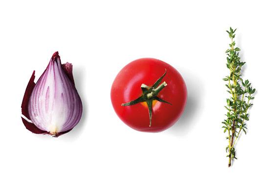 MENÜPLAN frisches Gemüse und frische Kräuter für smarte Convenience Produkte