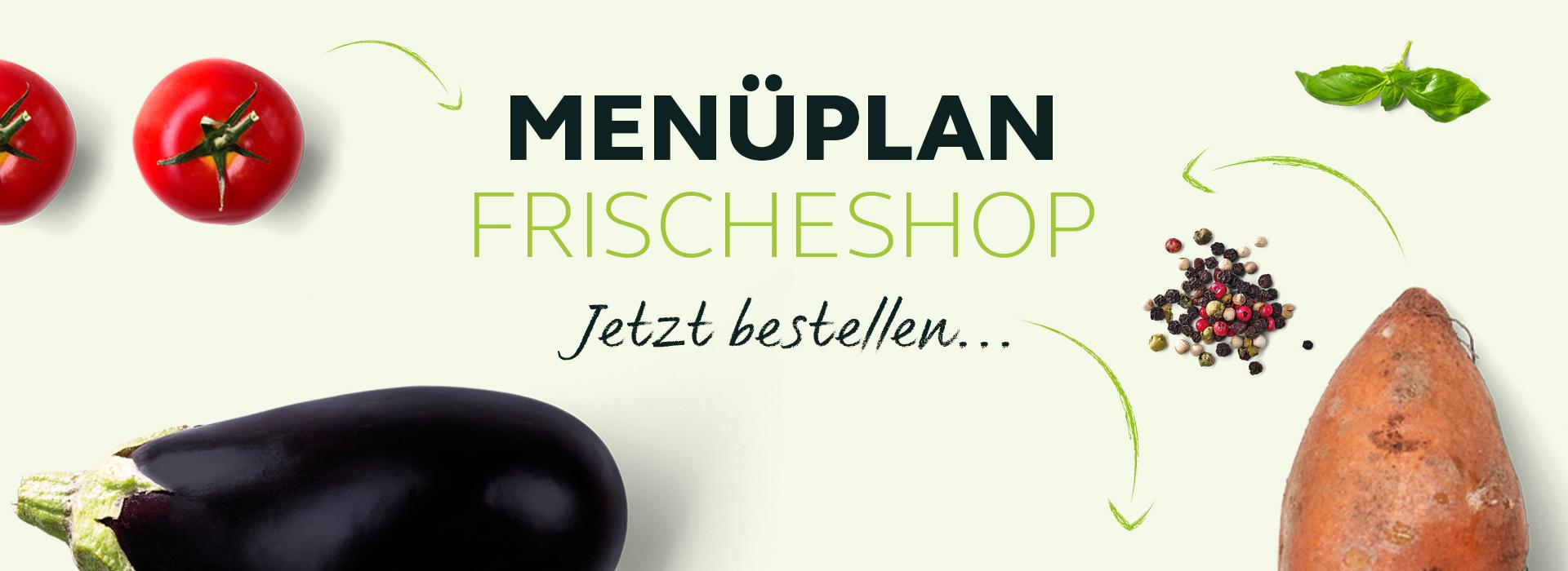 MENÜPLAN Frischeshop Banner – Jetzt bestellen