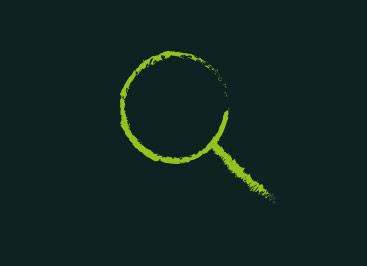 MENÜPLAN Karriere Banner schwarz mit grüner Lupe